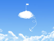 Victory concept cloud shape Royalty Free Stock Photo