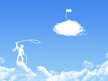 Victory concept cloud shape Royalty Free Stock Image