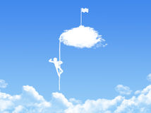 Victory concept cloud shape Royalty Free Stock Photos