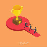 For victory concept design 3d isometric  illustration Royalty Free Stock Photos