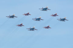 Victory Day air parade Royalty Free Stock Photography