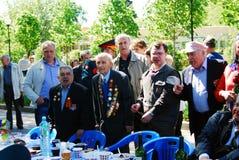 Victory Day beröm i Moskva Arkivbilder