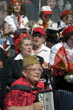 Victory Day beröm i Moskva Royaltyfri Bild