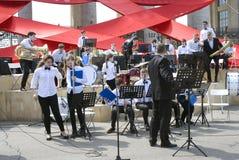 Victory Day beröm i Moskva Royaltyfri Foto