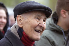 Victory Day celebration in Moscow. Senior man portrait Stock Image
