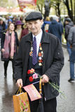Victory Day celebration in Moscow. Senior man portrait Stock Photography