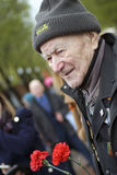 Victory Day celebration in Moscow. Senior man portrait Stock Images