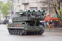 Victory Day celebration in Moscow. Tanks Royalty Free Stock Photos