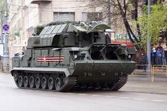 Victory Day celebration in Moscow. Tanks Stock Images