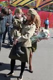 Victory day celebration in Russia, Moscow Stock Images