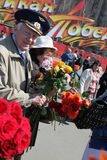 Victory day celebration in Russia, Moscow Royalty Free Stock Photography