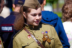 Victory day celebrations in Moscow Royalty Free Stock Photography