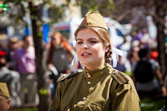 Victory day celebrations in Moscow Stock Images