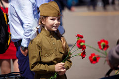 Victory day celebrations in Moscow Stock Photography