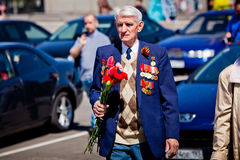 Victory day celebrations in Moscow Stock Photos
