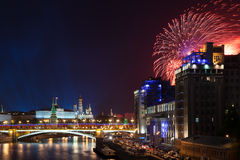 Victory Day celebrations in Moscow, Russia. Stock Images