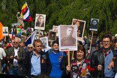 Victory Day ( 9 de mayo ) en el parque de Treptower Berlín, Alemania Imagen de archivo libre de regalías