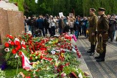 Victory Day ( 9 de mayo ) en el parque de Treptower Berlín, Alemania Foto de archivo