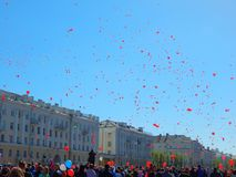 Victory Day-Feier in Russland stockfotos
