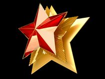 9 May. Victory Day. Red star 3d. Isolated background. Victory Day is a holiday of the victory of the Red Army and the Soviet people over Nazi Germany in the Royalty Free Stock Images