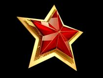 9 May. Victory Day. Red star 3d. Isolated background. Victory Day is a holiday of the victory of the Red Army and the Soviet people over Nazi Germany in the Royalty Free Stock Photo