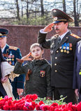 Victory Day. Izhevsk, May 9 Royalty Free Stock Photography