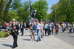 Victory Day in Kaliningrad. Russia Royalty Free Stock Photos