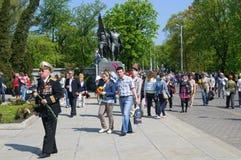 Victory Day in Kaliningrad. Russland Lizenzfreie Stockfotos