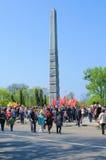 Victory Day in Kaliningrad. Russland Lizenzfreies Stockfoto