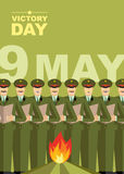 Victory day. 9 May. eternal fire and soldiers Stock Photo