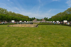 Victory Day (9 May) in Treptower Park. Berlin, Germany. BERLIN - MAY 09, 2015: Victory Day. Soviet War Memorial (Treptower Park Stock Photography