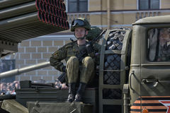 Victory Day Military-parade royalty-vrije stock foto