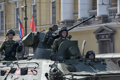 Victory Day Military parade Royalty Free Stock Photography