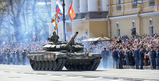 Victory Day Military parade Royalty Free Stock Images