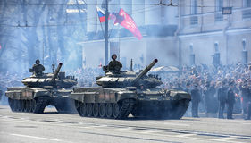Victory Day Military parade. St. Petersburg, Russia Stock Photo
