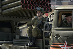 Victory Day Military parade Stock Photography