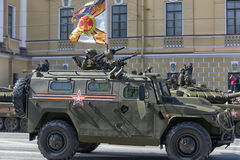 Victory Day Military parade Royalty Free Stock Image