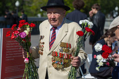 Victory day in Moscow Stock Photo