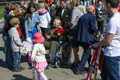Victory day in Moscow Stock Photos