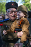 Victory day in Moscow Royalty Free Stock Photo