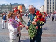Victory Day, Moskou, 9 Mei 2010 Rusland stock afbeeldingen