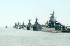 Victory Day navy parade royalty free stock image