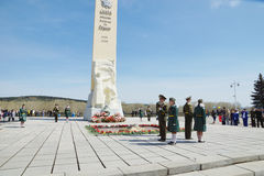 Victory day, near the Monument to soldiers dead in Second World war, Kemerovo city Stock Photo