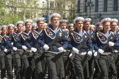 Victory Day Parade Royalty-vrije Stock Foto's