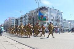 Victory day parade in Ekaterinburg Stock Photo