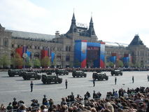 The Victory Day Parade on Moscow's Red Square Stock Photo