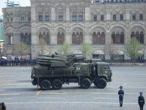 Victory Day Parade no quadrado vermelho de Moscou Foto de Stock Royalty Free