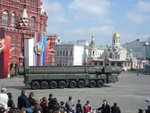 Victory Day Parade no quadrado vermelho de Moscou Foto de Stock