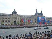 Victory Day Parade no quadrado vermelho de Moscou Imagens de Stock