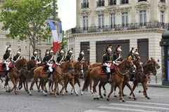 Victory Day Parade, Parijs Royalty-vrije Stock Afbeelding